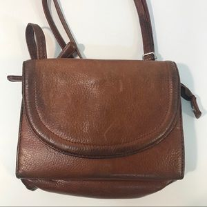 Osgoode Marley Brown Leather Crossbody Bag